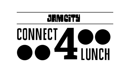 Connect-4-Lunch Logo Design