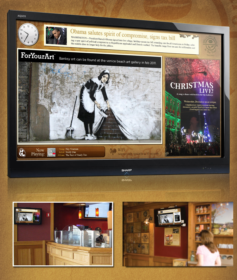 Digital Signage: Coffee Bean