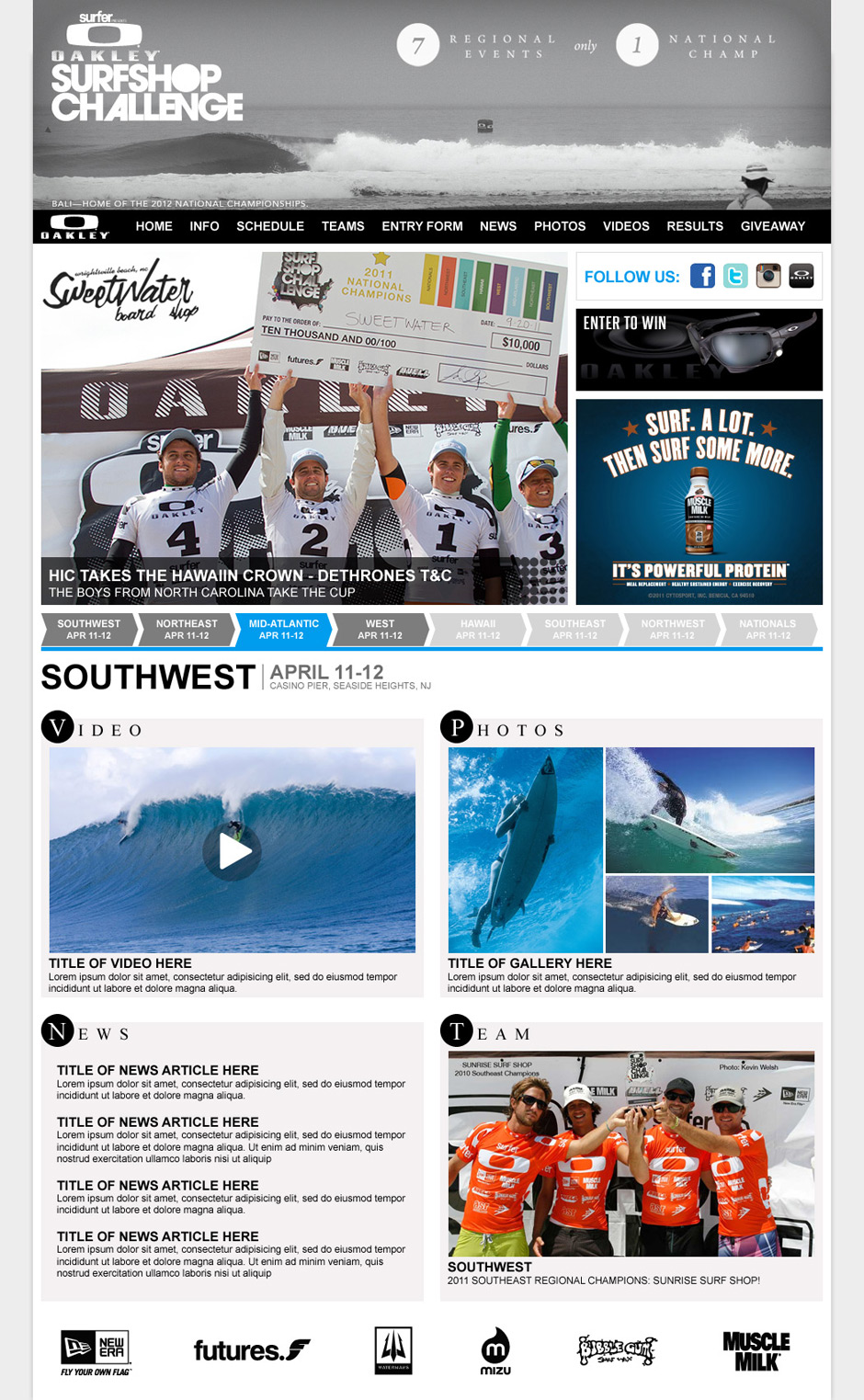 Oakley Surf Shop Challenge 2012